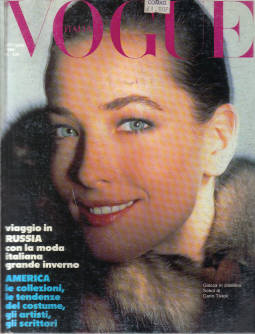 VOGUE ITALIA OCT 1986 BURROUGHS RUSSIA VINTAGE FASHION SCARCE 439