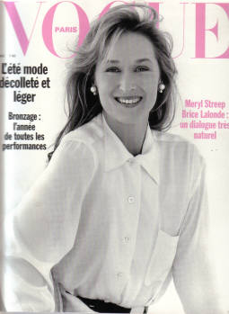 PARIS VOGUE magazine, May 1989, Number 696 issue for sale. Scarce MERYL STREEP cover. Original gifts