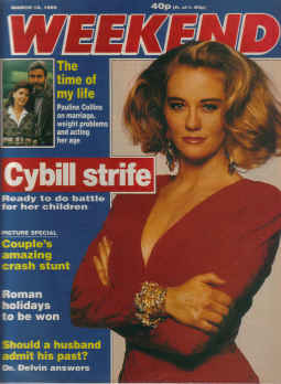 WEEKEND MAG MAR 18 1989 CYBILL SHEPHERD PAULINE CO