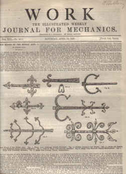 WORK JOURNAL FOR MECHANICS AP 10 1897 IRON HINGES